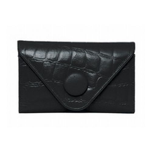 JATOE sells Manzoni Handbags and Wallets Black Croc Embossed Wallet