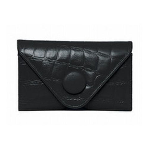Manzoni - Black Croc Embossed Wallet