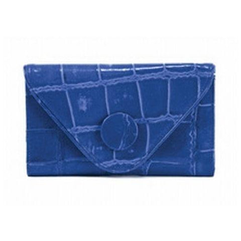 Manzoni - Blue Croc Embossed Wallet