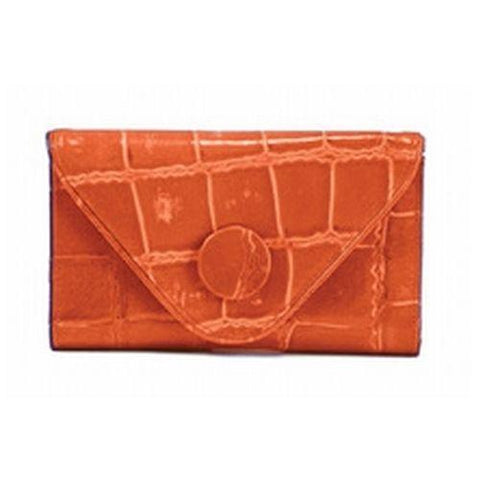 Manzoni - Orange Croc Embossed Wallet