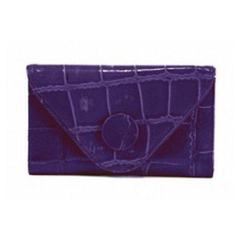 Manzoni - Purple Croc Embossed Wallet