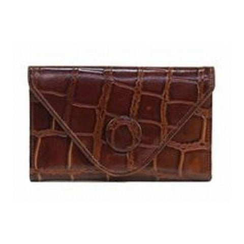Manzoni - Tan Croc Embossed Wallet