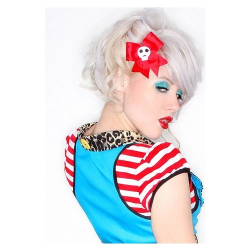 Jessica Louise - Red Skull and Diamante Hair Bow