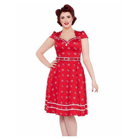 Voodoo Vixen Leslie Red Dress 10-26