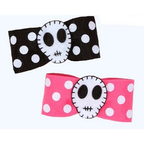 JATOE sells Jessica Louise Clothing the Pink and Black Skull Hair Bow