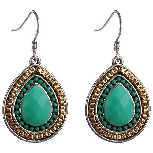 JATOE sells Anna Nova earrings Paradise Green Hook Earrings