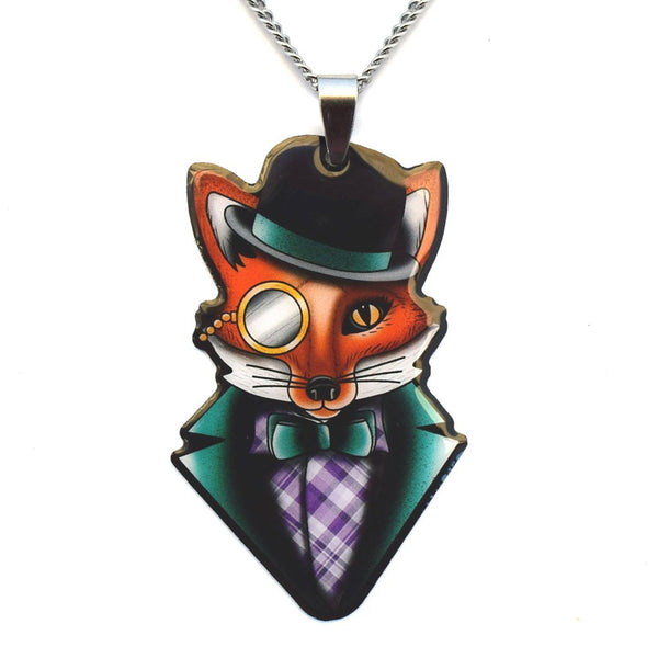 JATOE Jubly Umph Felix the Dapper Fox Necklace