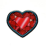 JATOE Jubly Umph Crystal Heart Brooch