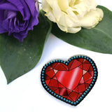 Jubly Umph Brooch Crystal Heart Brooch