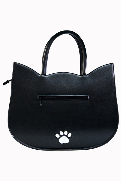 Banned - Heart of Gold Black Cat Tote Bag