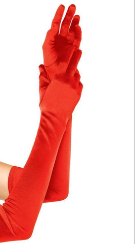 Jo's Bibs and Bobs - Jo's Long Red Gloves