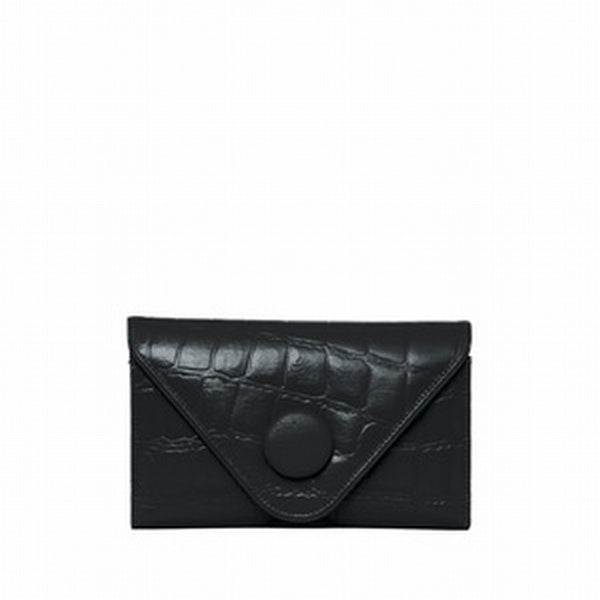 Manzoni Black Croc Embossed Leather wallet sold at Australian online store, JATOE.