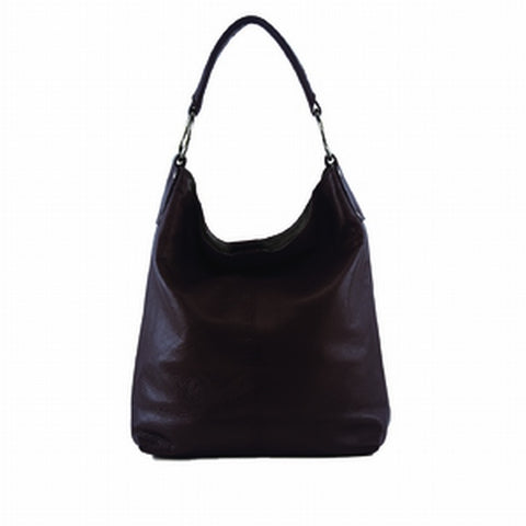 Manzoni - N11 - Black Embossed Leather Tote Bag