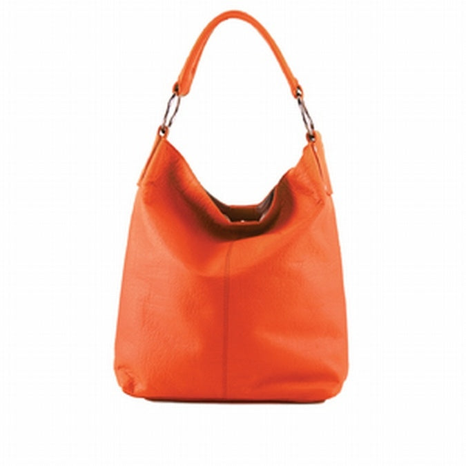 The Manzoni - N11 - Orange Embossed Leather Handbag is sold at the Australian online store - JATOE.