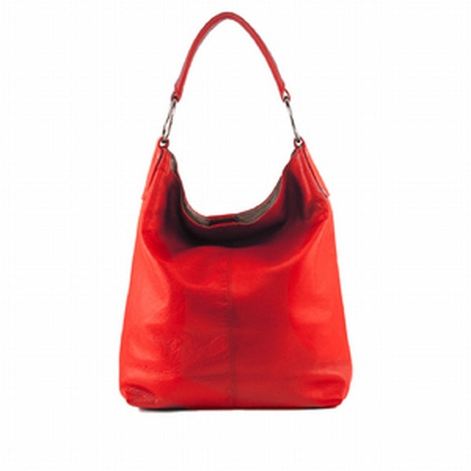 Manzoni - N11 - Red Embossed Leather Tote Handbag is sold at the Australian online store - JATOE.
