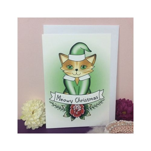 Australian online store, JATOE sells Jubly Umph merchandise including the Meowy Christmas Greeting Card.