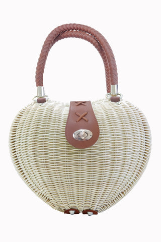 Banned Happy Days - White Nikki Handbag