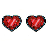 JATOE Jubly Umph Red Crystal Heart Earrings