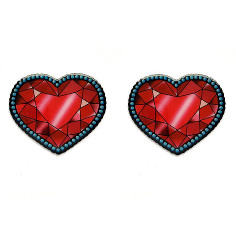 Jubly Umph Earrings Crystal Heart Stud Earrings