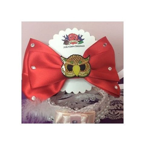 Jubly Umph - Red Owl Hair Bow