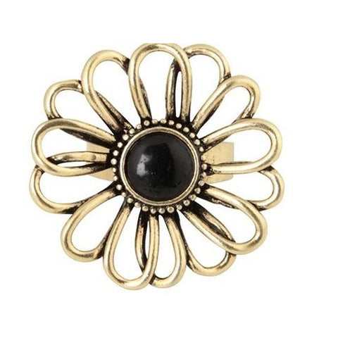Anna Nova - Treasury Flower Gold and Black Ring