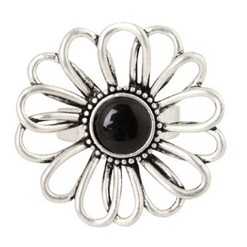 Australian online store, JATOE sells Anna Nova jewellery including the Treasury Flower Silver and Black Ring
