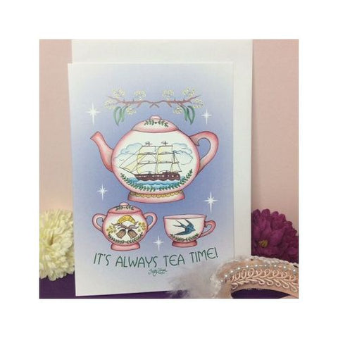 Jubly Umph - It's Always Tea Time Greeting Card