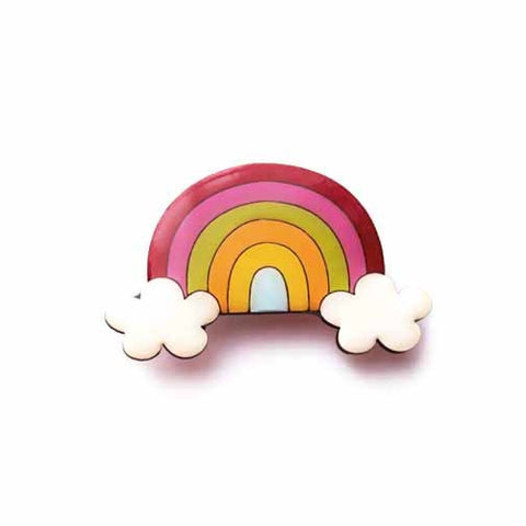 Bok Bok B'Gerk - Unicorns and Rainbows - Rainbow Brooch
