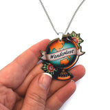 Jubly Umph Necklace Wanderlust Globe Pendant Necklace