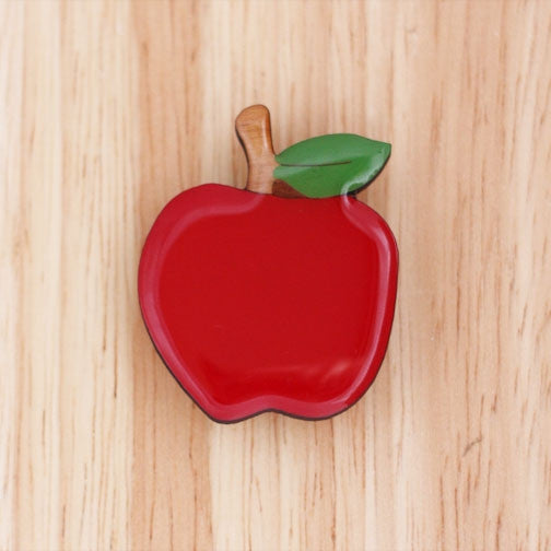 Bok Bok B'Gerk - Woodland Red Apple Brooch