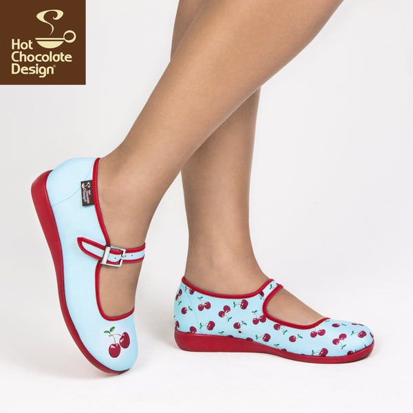 Hot Chocolate Design Shoes - Cherry Flats