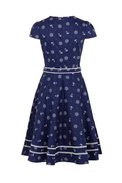 Voodoo Vixen Joni Blue Dress XL - 4XL