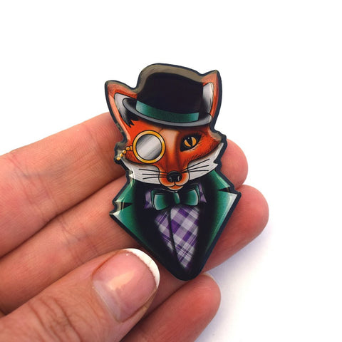 Jubly Umph Brooch Felix the Dapper Fox Brooch