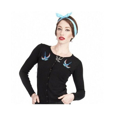 Collectif UK - Jo Blue Birds Cardigan