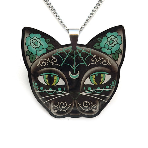 Jubly Umph Necklace Luna Kitty Pendant Necklace