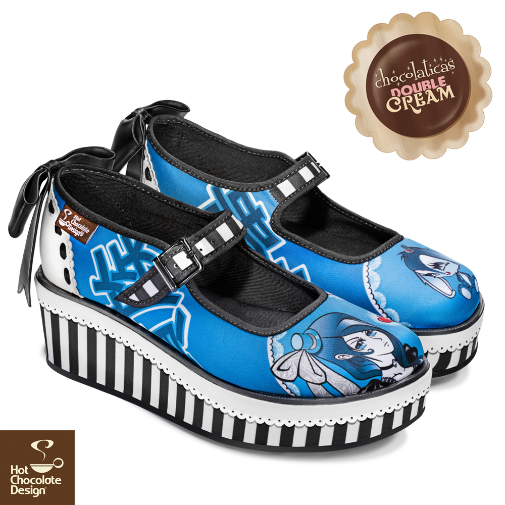 Platform Double Cream Hot Chocolate Shoes - Aristocrat Lolita