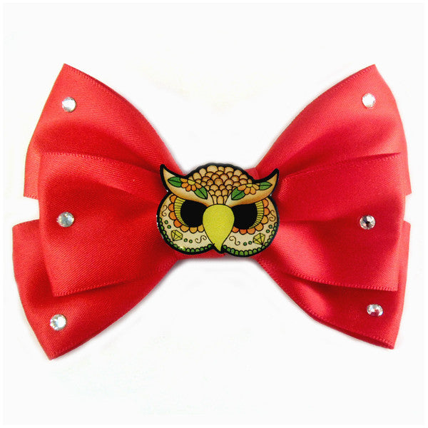 Australian online store JATOE still sells Jubly Umph hair bows including this red satin owl hair bow! www.jatoe.com.au
