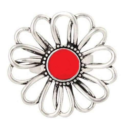 Australian online store, JATOE sells Anna Nova jewellery including the Treasury Flower Silver and Red Ring
