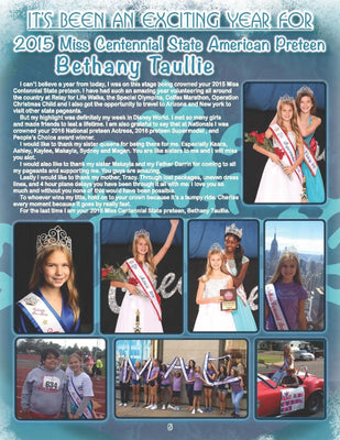 Farewell Page Design MAC Pageants