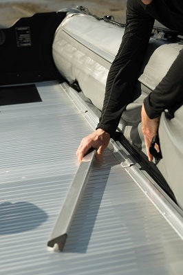 Attaching the floor locking system