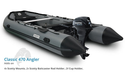 Swellfish 470 Classic Inflatable Boat Angler Package with Scotty Mounts
