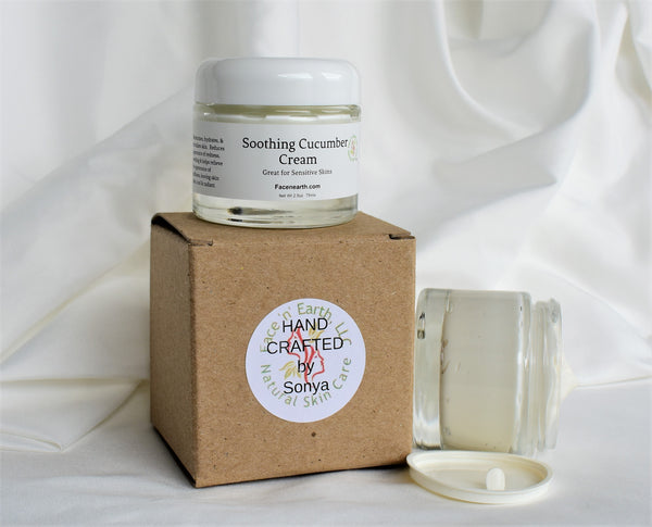 Cucumber & Chamomile Moisturizer for Sensitive Skin  - Organic & Vegan