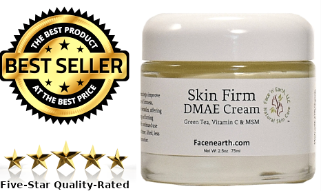 Lift & Firm Face Neck Cream with DMAE | MSM | Encapsulated Vitamin C | Vegan | 77% Organic