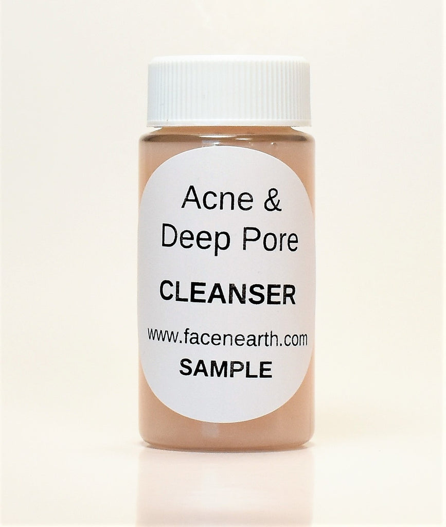 Sample - Deep Pore Cleanser 94% Organic with Grapefruit & Rosehip Extract, Salicylic Acid/Vitamin B5 - Acne/Rosacea/All Skins - VEGAN