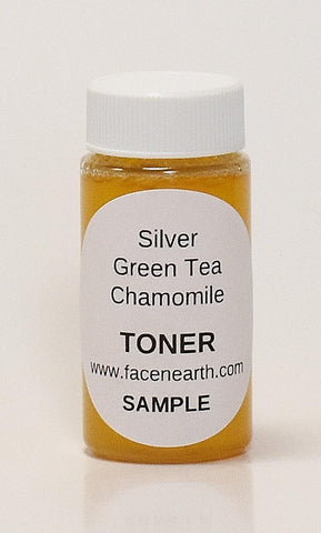 SAMPLE - Colloidal Silver, Green Tea & Chamomile Toner 84% Organic - All Skin Types including Acne/Rosacea