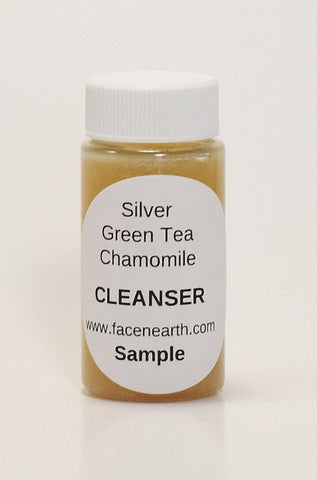 SAMPLE - Colloidal Silver Moisturizing Soap with Green Tea & Chamomile 79% Organic - VEGAN