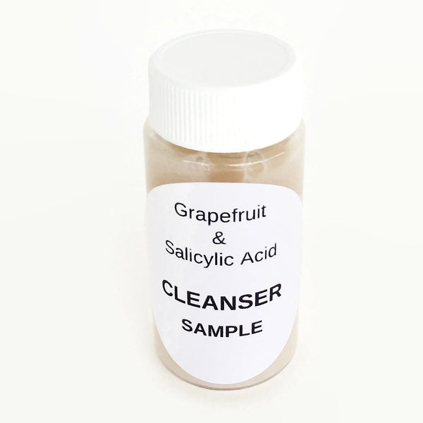 Sample - Renewing Moisturizing Cleanser 94% Organic with Grapefruit & Rosehip Extract, Salicylic Acid/Vitamin B5 - Acne/Rosacea/All Skins - VEGAN