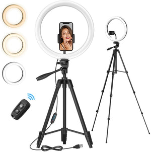 TONOR 12'' Selfie Ring Light with Tripod Stand TRL-20