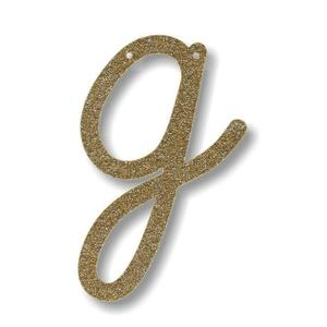 Gold Glitter Letter Bunting (assorted)