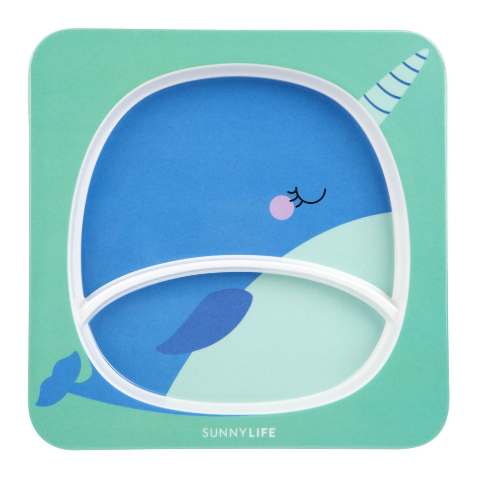Kids Plate Narwhal | Sunnylife